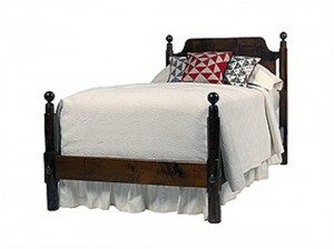 Cannonball Bed Ebony Finish
