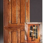 Queen Anne Corner Cupboard with Glass Panels