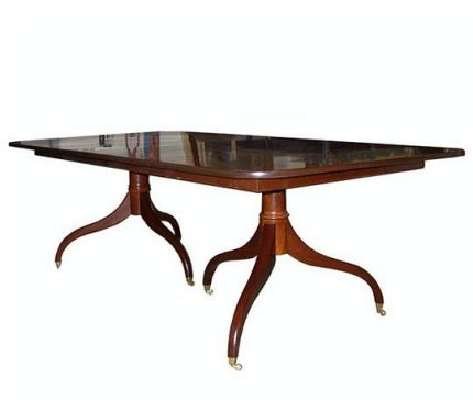 Reversed Double Pedestal Dining Table