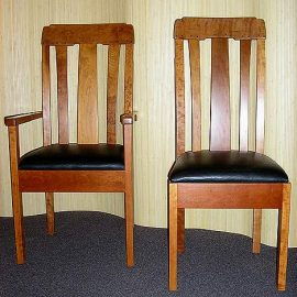 California Arts & Crafts Bungalow Dining Chairs