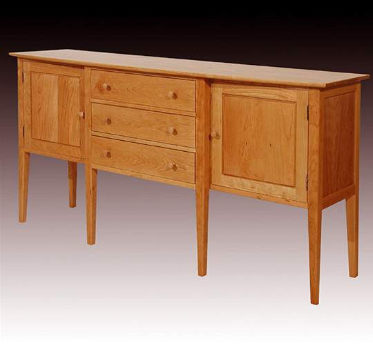 Six Leg Bow Top Sideboard