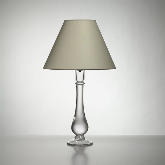 Pomfret Lamp with Linen Shade