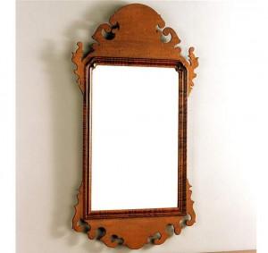 Wallace Nutting Scroll Mirror