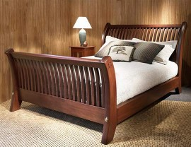 Arts & Crafts Sleigh Bed