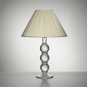 Large Hartland Lamp with Silk Pleated Shade