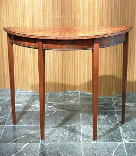 "36"" Mahogany Demilune Table"