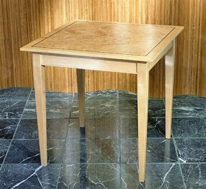 Square Exotic Wood Side Table
