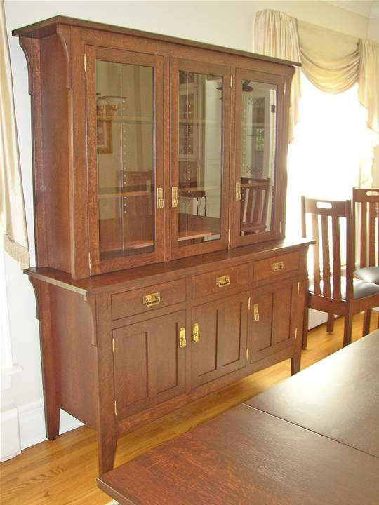 Arts & Crafts China Cabinet
