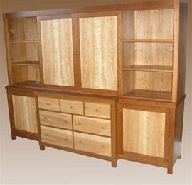 Flat Screen Television Cabinet Closed Doors