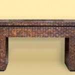 Woven Copper Console Table