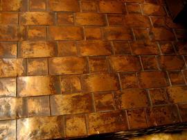 Woven Copper Detail