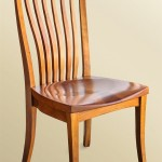 Winged Side Chair (Wood Seat)