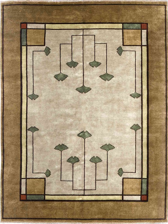 The Ginkgo Rug with Oatmeal Ground