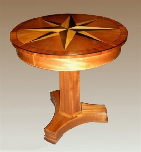 """Compass Table customized to 28""""D"""