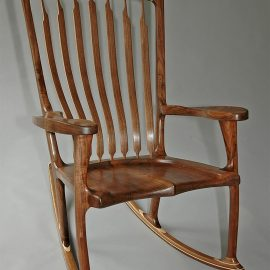 Floating American Walnut Rocker