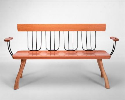 Pitchfork Bench with Arms