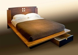 Four-Square Platform Bed