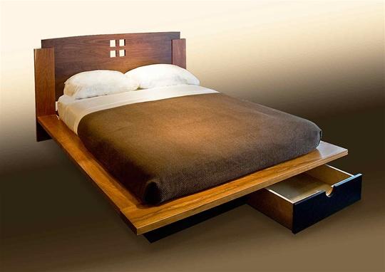 Four-Square Platform Bed
