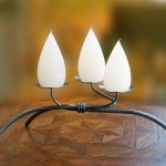4 in. Low Iron Candleholder