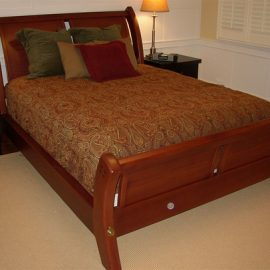 Paneled Arts & Crafts Sleigh Bed