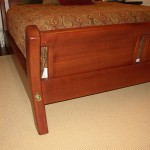 Paneled Sleigh Bed detail