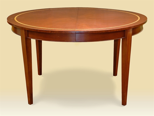 Mahogany & Satinwood Extending Round Dining Table