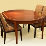 Mahogany & Satinwood Dining Table with extension leaves