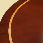 Mahogany and Satinwood Dining Table detail