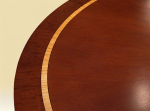 Mahogany and Satinwood Dining Table detail
