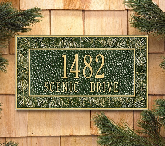 Aspen Leaf Address Plaque