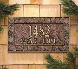 Antique Copper Address Plaque