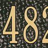 Black/Gold Address Plaque