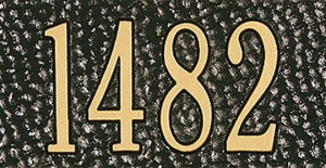Black/Gold Address Plaque