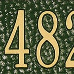 Green/Gold Address Plaque