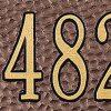 Antique Copper Address Plaque