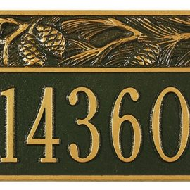Small Pine Address Plaque