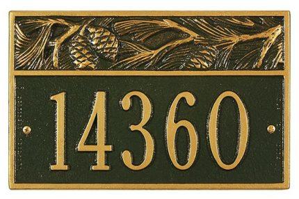 Small Pine Address Plaque
