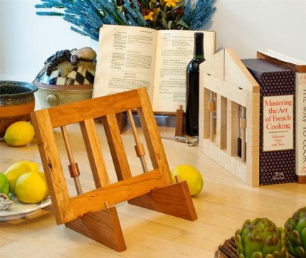 Ingenious Folding Bookstand, Cherry