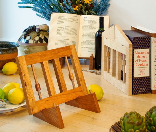 Ingenious Folding Bookstand, Cherry