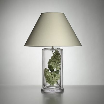 Large Nantucket Lamp with Linen Shade