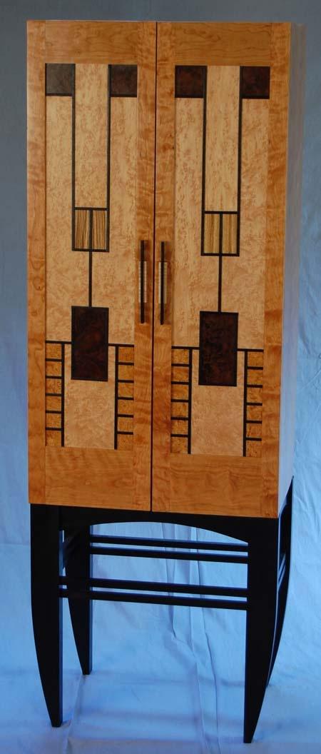 Prairie Windows Wine Cabinet