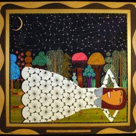 Constellations Fabric Painting