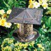 Verdigris Dragonfly Birdfeeder