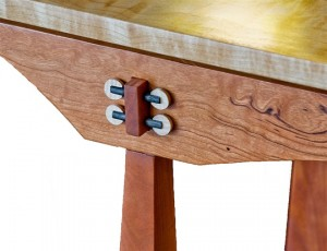 Hardwood Ladder Console Table Detail