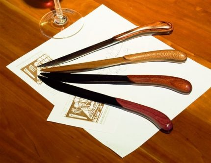 Natural Wood Letter Openers, Ebony blade