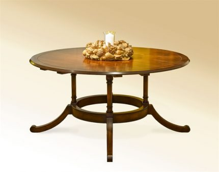Four Column Round Extension Dining Table