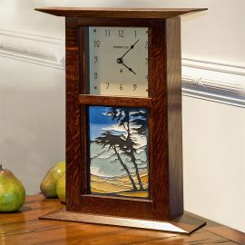 Arts & Crafts Clock with Montana de Oro Tile