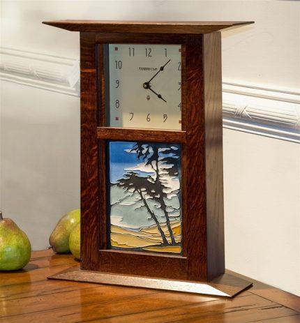 Arts & Crafts Clock with Montana de Oro Tile