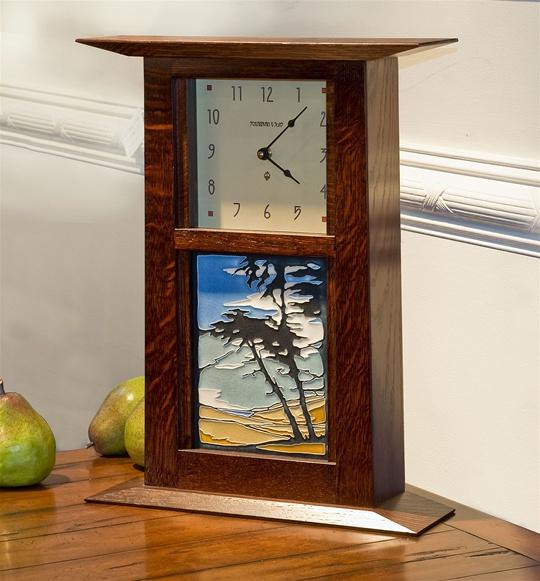 Clock with Montana de Oro Tile