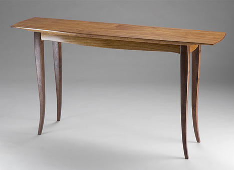 Sculpted Hardwood Console Table